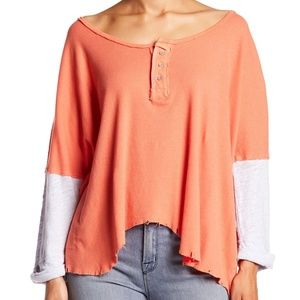Free People We the Free Star Henley Top NWT
